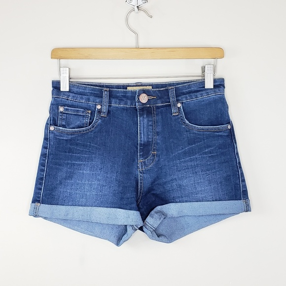 STS Blue Pants - STS Blue | High Waist Cuffed Denim Shorts